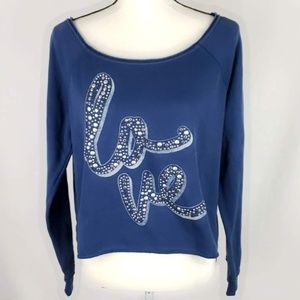 "Aeropostale ""Love"" Crop Sweatshirt"